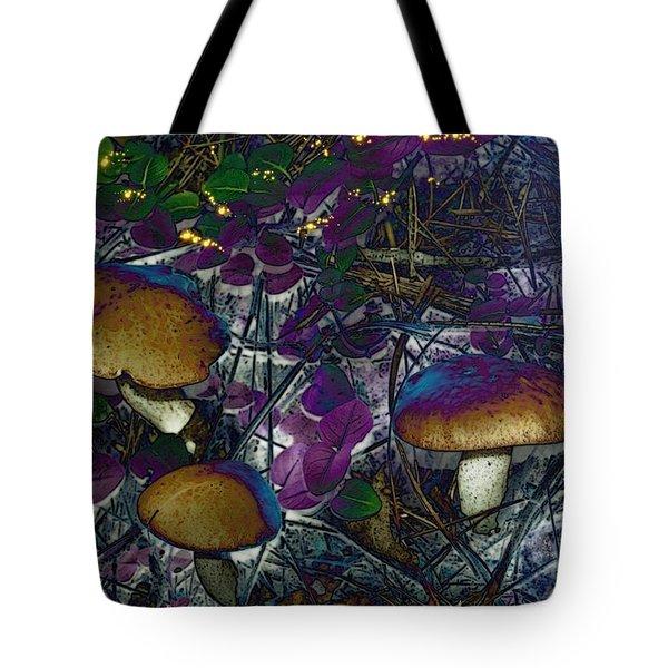 Magic Mushrooms Tote Bag by Barbara S Nickerson