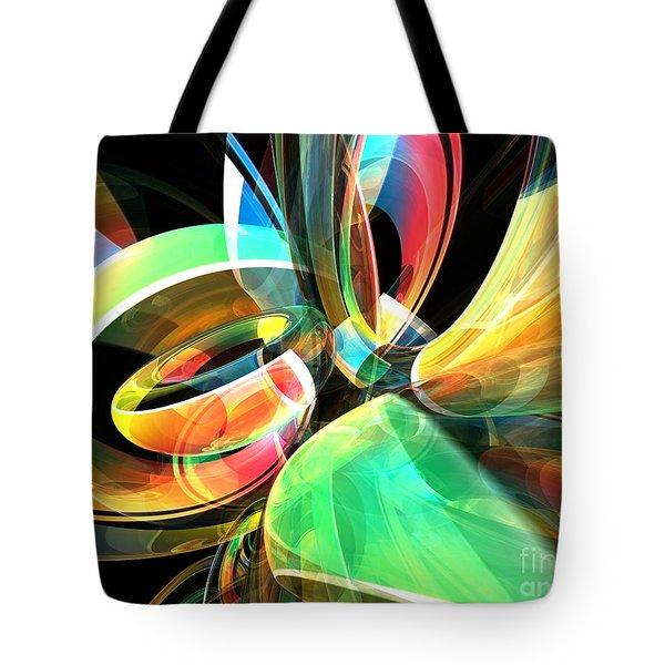 Tote Bag featuring the digital art Magic Rings by Phil Perkins