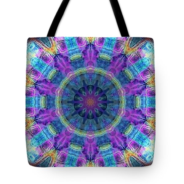 Tote Bag featuring the digital art Magic Snowflake by Alec Drake