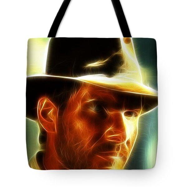 Magical Indiana Jones Tote Bag by Paul Van Scott