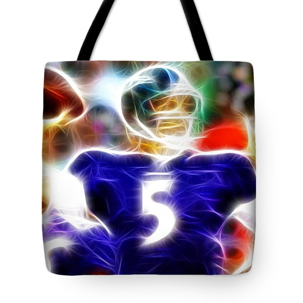 Magical Joe Flacco Tote Bag by Paul Van Scott