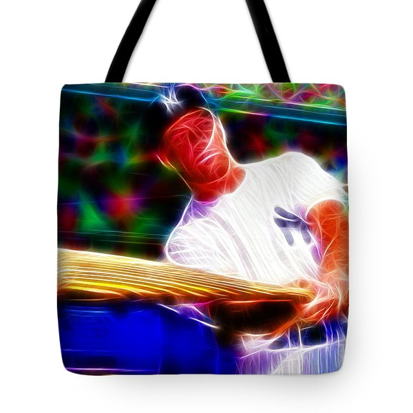 Magical Mickey Mantle Tote Bag by Paul Van Scott