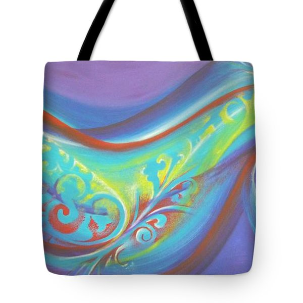 Magical Wave Water Tote Bag by Reina Cottier
