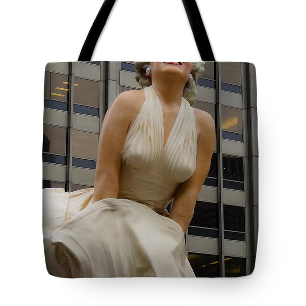 Magnificent Marilyn Tote Bag by Julia Wilcox