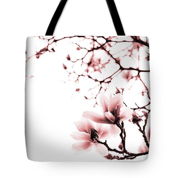Magnolia - Monochrome Tote Bag by Laura Melis