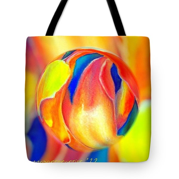 Magnolia Marble Tote Bag