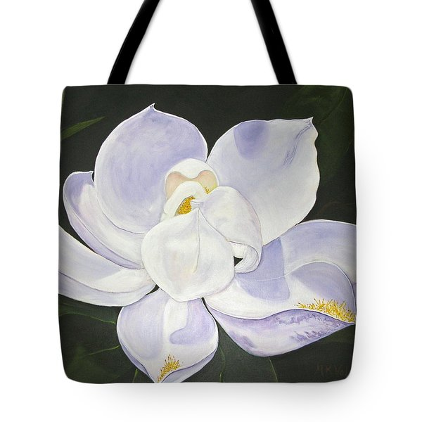 Tote Bag featuring the painting Magnolia by Mary Kay Holladay