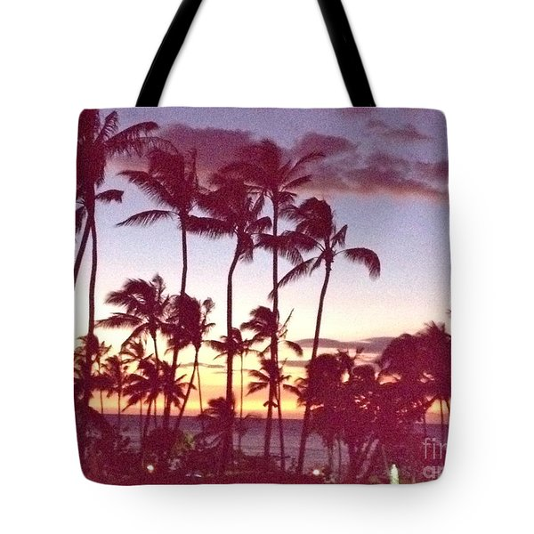 Mahalo For This Day Tote Bag by Beth Saffer