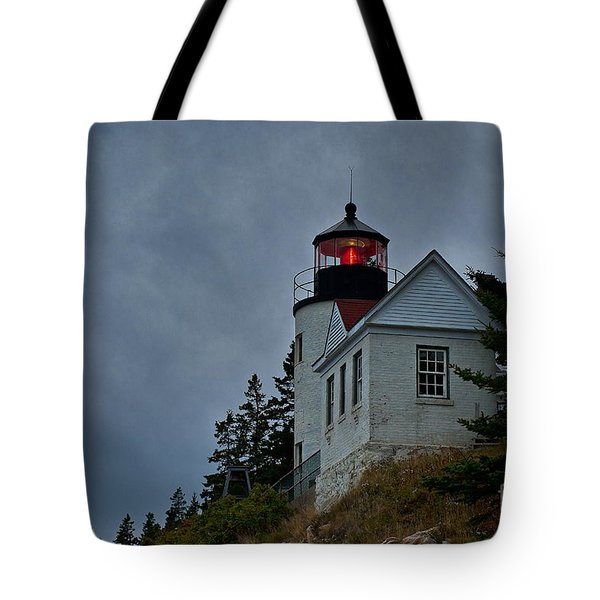 Maine Lighthouse Tote Bag by John Greim