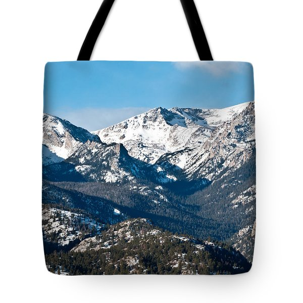 Majestic Rockies Tote Bag by Colleen Coccia