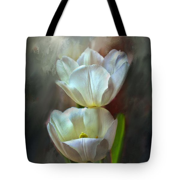 Majestic Tulips Tote Bag by Bonnie Willis
