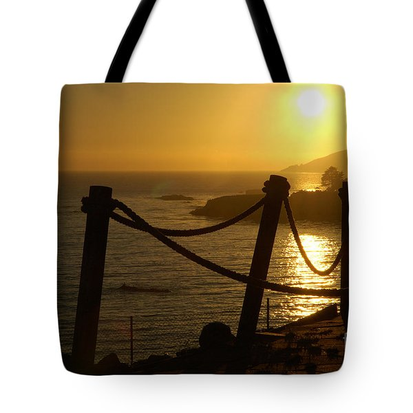 Malibu Sunset Tote Bag by Micah May