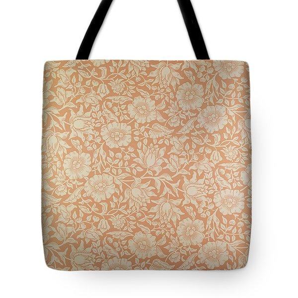 Mallow Wallpaper Design Tote Bag by William Morris