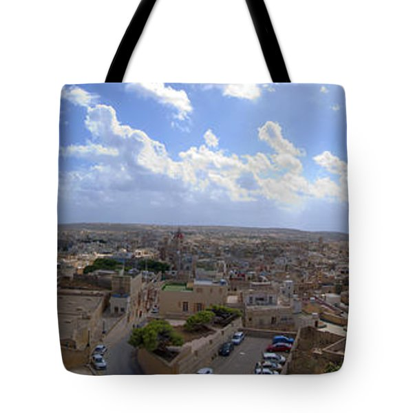 Malta Panoramic View Of Valletta  Tote Bag by Guy Viner