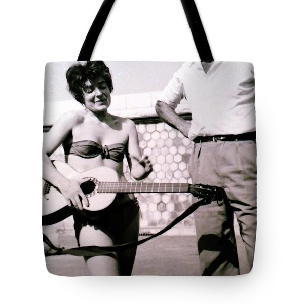 Mama Chris And Gary Cooper In Monte Carlo 1958 Tote Bag
