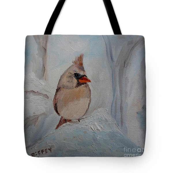 Tote Bag featuring the painting Mama's On Her Way Home by Julie Brugh Riffey