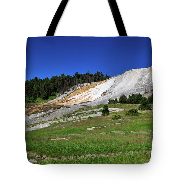 Mammoth Hot Springs Lower Terrace Tote Bag by Louise Heusinkveld