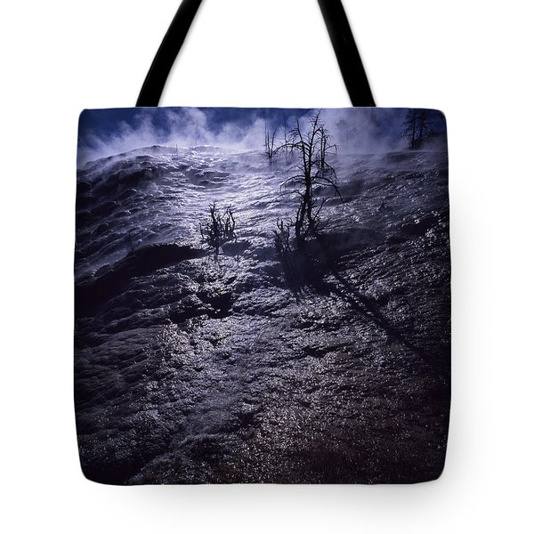 Tote Bag featuring the photograph Mammoth Steam by J L Woody Wooden