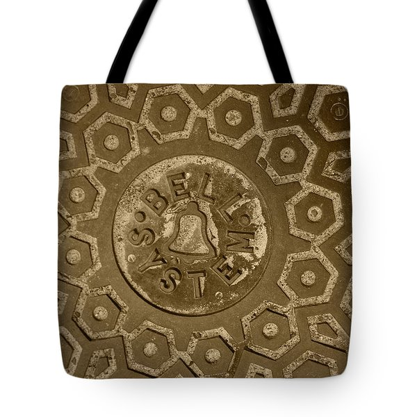 Man Hole Cover For Ma Bell Tote Bag by Kym Backland