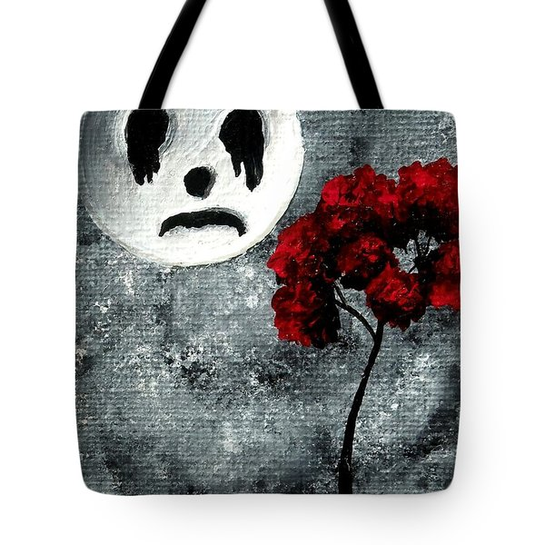 Man In The Moon Tote Bag by Oddball Art Co by Lizzy Love