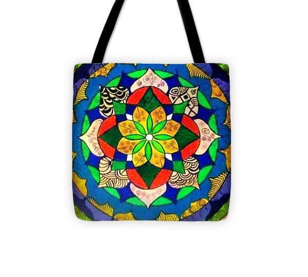Mandala Circle Of Life Tote Bag by Sandra Lira