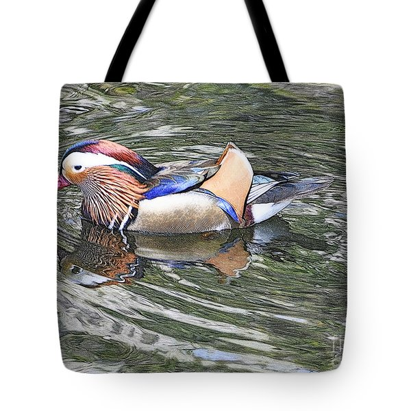 Tote Bag featuring the photograph Mandarin Duck  by Lydia Holly