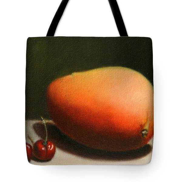 Mango And Cherries Tote Bag