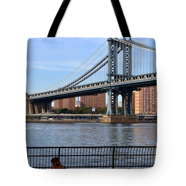 Tote Bag featuring the photograph Manhattan Bridge2 by Zawhaus Photography