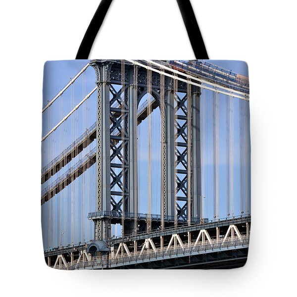 Tote Bag featuring the photograph Manhattan Bridge3 by Zawhaus Photography
