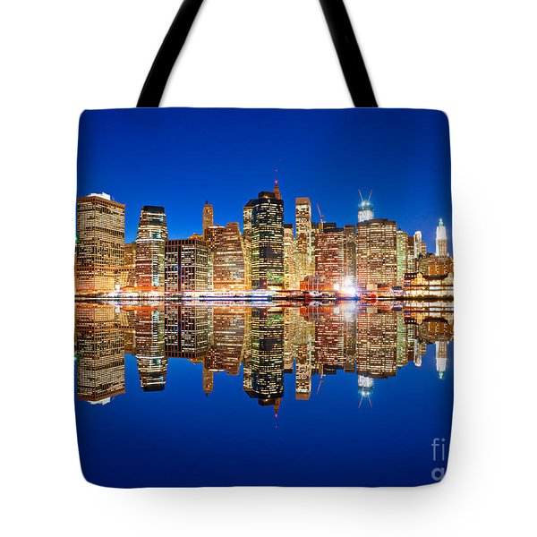 Tote Bag featuring the photograph Manhattan by Luciano Mortula
