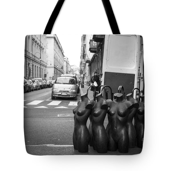 Tote Bag featuring the photograph Mannequins by Sonny Marcyan