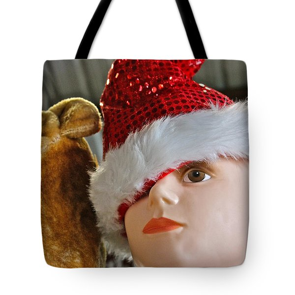 Tote Bag featuring the photograph Manniquin Santa 2 by Bill Owen
