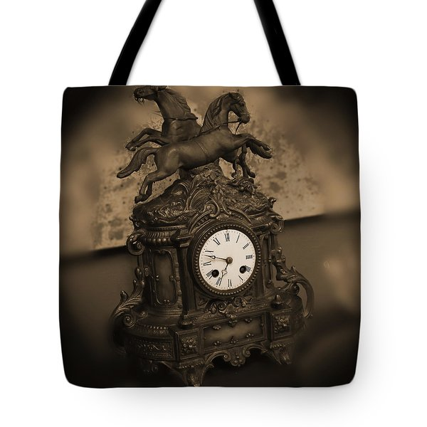 Mantel Clock Tote Bag by Mike McGlothlen
