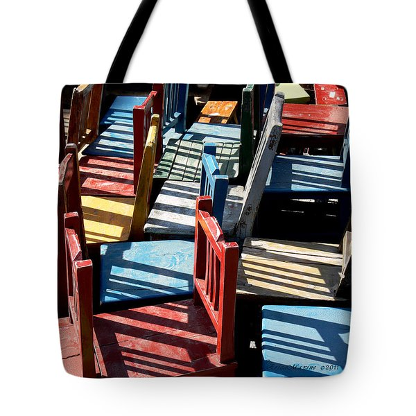 Tote Bag featuring the photograph Many Seats For Learning by EricaMaxine  Price