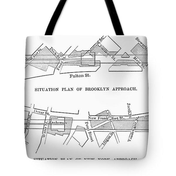Map: Brooklyn Bridge Tote Bag by Granger
