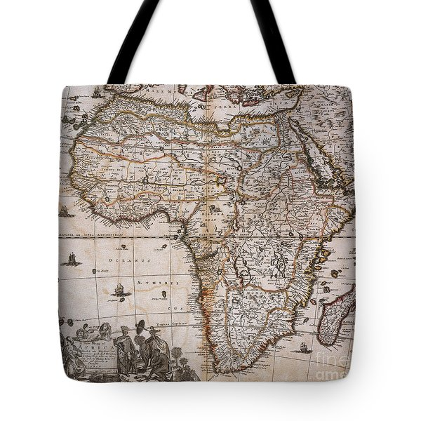 Map Of Africa, 1688 Tote Bag by Photo Researchers