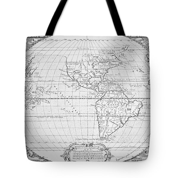 Map Of The New World 1587 Tote Bag by Richard Hakluyt