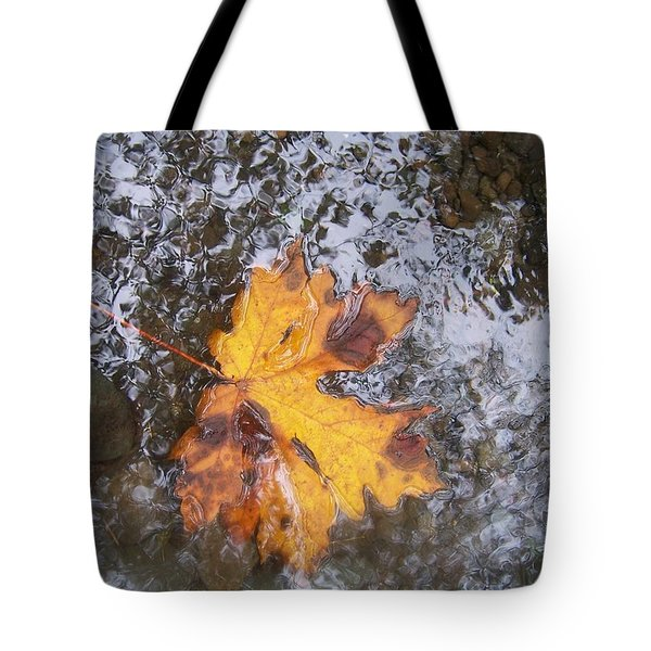 Maple Leaf Reflection 2 Tote Bag by Peter Mooyman