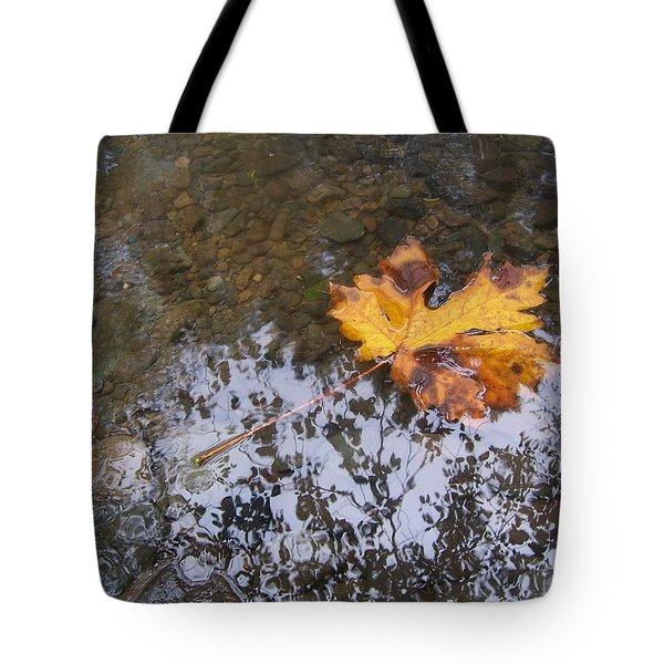 Maple Leaf Reflection 3 Tote Bag by Peter Mooyman