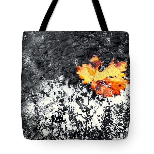 Maple Leaf Selective Color Tote Bag