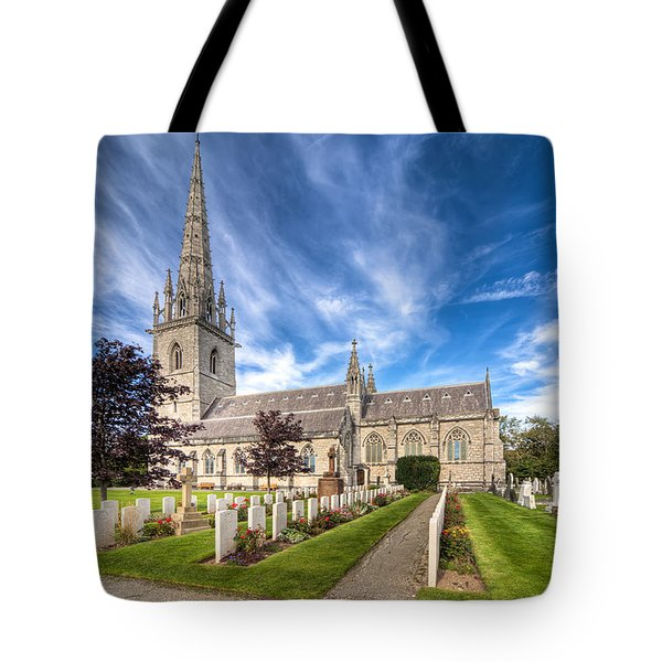 Marble Church Tote Bag by Adrian Evans