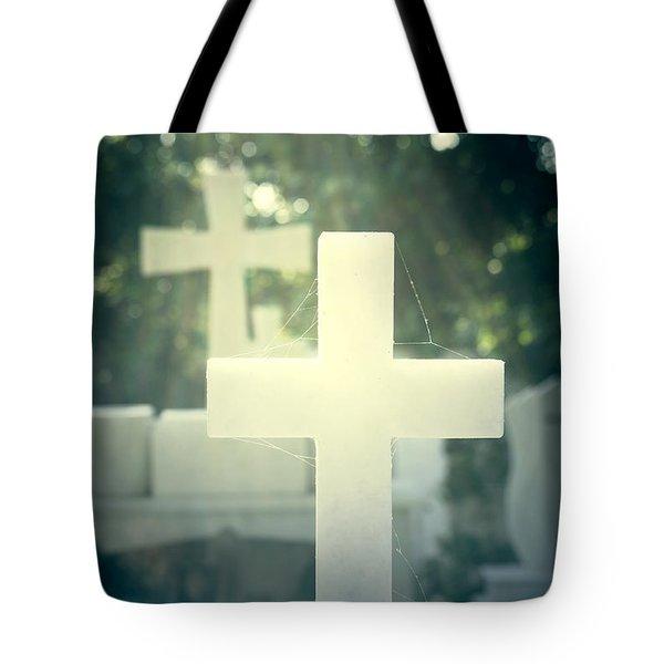 Marble Crosses Tote Bag by Joana Kruse