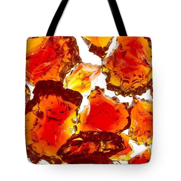 Marble Red Crackle Broken 1 B Tote Bag by John Brueske