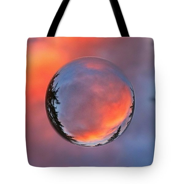 Sunset In A Marble Tote Bag