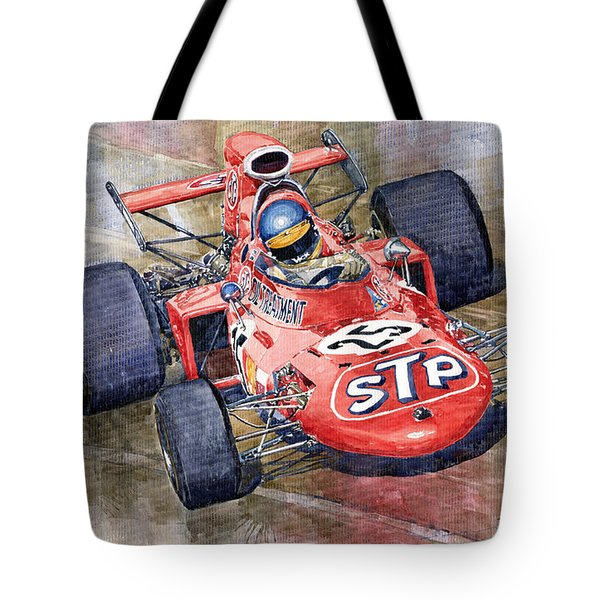 March 711 Ford Ronnie Peterson Gp Italia 1971 Tote Bag by Yuriy  Shevchuk