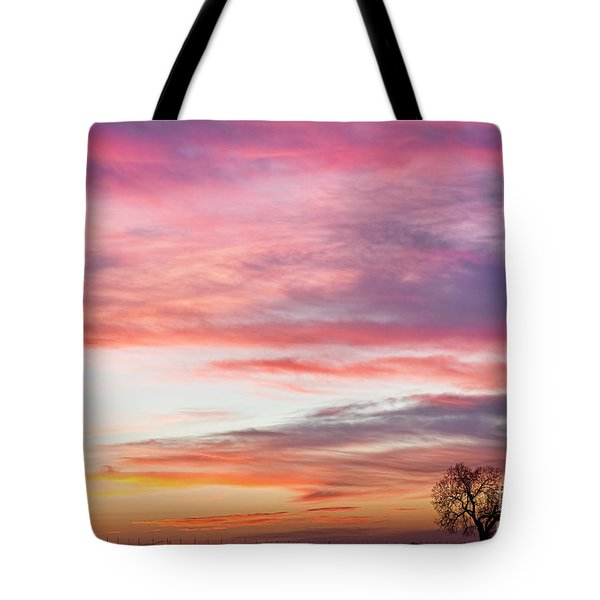 March Countryside Sunrise  Tote Bag by James BO  Insogna
