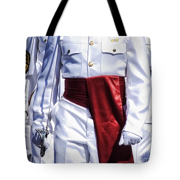 Marching Mardi Gras Marines Tote Bag by Kathleen K Parker