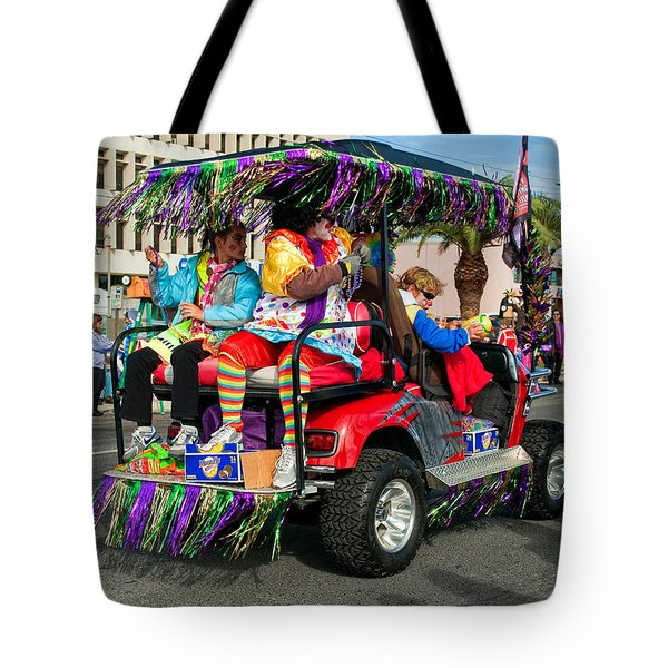 Mardi Gras Clowning Tote Bag by Steve Harrington