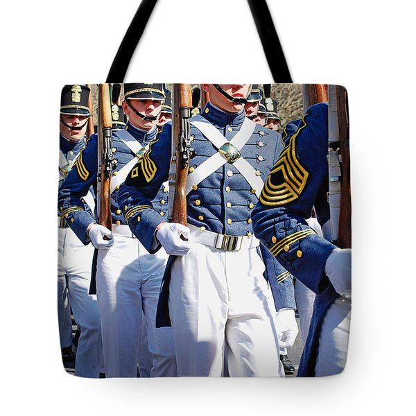 Mardi Gras Marching Soldiers Tote Bag by Kathleen K Parker