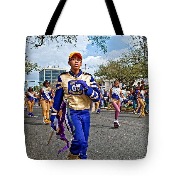 Mardi Gras Struttin' Tote Bag by Steve Harrington